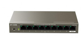 IP-COM 9-Port Fast Unmanaged Switch With 8-Port PoE, F1109P-8-102W, interface: 8 10/100M Base-T ports(Data/Power), 1 10/100M Base-T ports (Data), Exchange Capacity: 1.8 Gbps, Packet forwarding rate: 1.34Mpps, Port 1-8 support IEEE802.3at/af PoE standard,