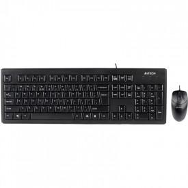 Kit tastatura + mouse A4tech KRS-8372, cu fir, negru