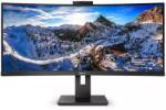 "Monitor 34"" PHILIPS 346P1CRH, VA, WLED, UWQHD 3440x1440, Anti-Glare, 2H, Haze 25%, curbat 1500R, 21:9, 100 Hz, 4 ms, 500 cd/mp, 3000:1, 178/178, LowBlue Mode, EasyRead, Adaptive sync, Flicker-free, DP, HDMI, USB-C, 4 *USB, RJ45, boxe 2*5W, PIP/ PBP, cablu"
