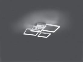 Plafoniera LED integrat Trio Sorrento, incl. 1x SMD LED, cu intrerupator dimmer, 24W, 230V, lumina calda 3000K, 2400 lumeni, durata de viata 30.000 de ore, clasa energetica A+, IP20, dimensiuni 52x16x52cm, material metal, culoare aluminiu lucios, montare