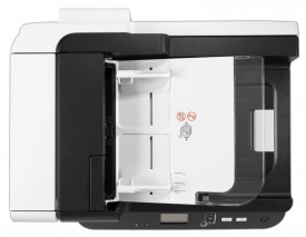 Scanner HP Scanjet Enterprise Flow 7500, dimensiune A4, tip flatbed, viteza scanare: max 50ppm/100ipm(200dpi), duplex, ADF 100 coli, rezolutie optica 600dpi, rezolutie hardware 600x600dpi, interfata: USB 2.0, duty cycle 3000pag/zi, 7 butoane frontale, dis