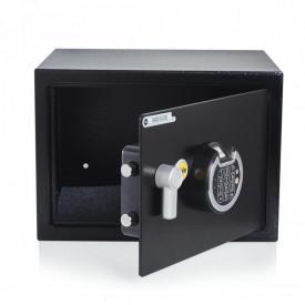 Seif mediu cu amprentă YSF/250/DB1 - oferă securitate pentru a vă proteja bunurile personale în timp ce beneficiați de o deschidere a seifului ușoară cu amprenta dvs; Păstrați-vă informațiile importante și cele mai de valoare bunuri în sigura