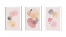 Set 3 tablouri 40x60 cm Abstract Pink