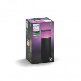 Stalp iluminat exterior LED RGBW integrat Philips Calla HUE, 8W (49W), 24V, IP65, ambianta alba color 2000-6500K, 600 lumeni, durata de viata 25.000 de ore, culoare crom mat, material aluminiu