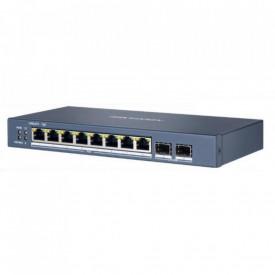 Switch 8 porturi Gigabit, Hikvision DS-3E1510P-E, Web management, Layer 2, 8 × gigabit PoE ports, and 2 × gigabit fiber optical ports, IEEE 802.3at/af standard for PoE ports, RJ45 port, full duplex, MDI/MDI-X adaptive, Standard mode (default); Extend mo