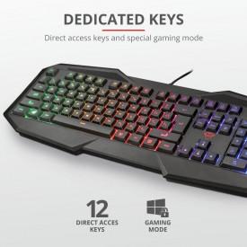 Tastatura Trust GXT 830-RW-C Avonn, Gaming, camo
