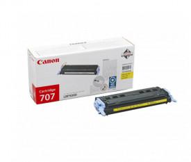 Toner Canon CRG707Y, yellow, capacitate 2000 pagini, pentru LBP-5000