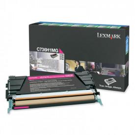 Toner Lexmark C736H1MG, magenta, 10 k, C736dn , C736dtn , C736n ,X736de , X738de , X738dte