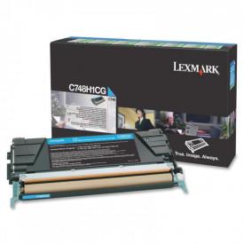Toner Lexmark C748H1CG, Cyan, 10 k, C748de , C748dte , C748e.