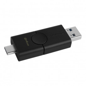 USB Flash Drive Kingston 64GB DataTraveler Duo, USB 3.2, black