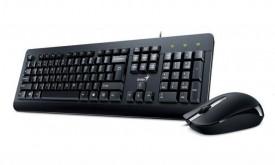 Kit tastatura + mouse Genius KM-160, cu fir, negru