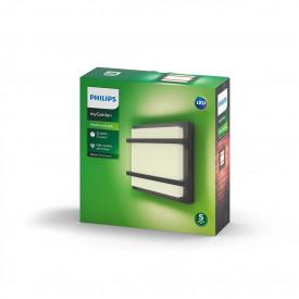 Lampa de perete Led integrat Philips MyGarden Petronia, 12W (83W), 1200 lumeni, culoare temperatura calda (2700K), 220-240V, 176V, IP44, durata de viata 25.000 de ore, clasa energetica A+