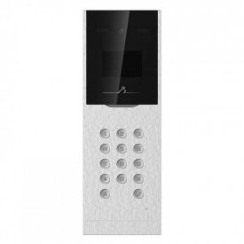 Post exterior videointerfon Hikvision DS-KD8023-E6, suporta pana la 500 usi si 10000 utilizatori, ecran LCD 3.5 inch, camera video 2MP(1920× 1080p), unghi vizualizare: Horizontal: 70°, Vertical: 121°,Diagonal: 131°, deschidere usa cu card sau cod pin,