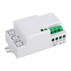 Senzor de miscare Microwave Vivalux OSCAR MW18-IN-W, 230V, IP20, incandescent 1200W, LED 300W, culoare alb, dimensiuni 37x61.5x25mm