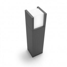 Stalp mic gradina Philips myGarden Arbour, 1x6W, 230V, lumina neutra 4000K, 600 lumeni, durata de viata 25.000 de ore, IP44, culoare gri inchis, material aluminiu, dimensiuni 400x100x100mm;