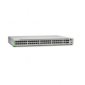 Switch ALLIED TELESIS GS948 Gigabit Ethernet Managed switch with 48 10/100/1000T ports POE, 2 SFP/Copper combo ports, 2 SFP/SFP+ uplink slots, single fixed AC power supply