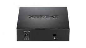 Switch D-Link DGS-105, 5 porturi Gigabit, Capacity 10Gbps, desktop, fara management, metal, negru