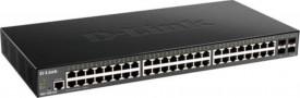Switch D-Link DGS-1250-52X , 48 porturi Gigabit, 4 porturi SFP+, Capacity 176Gbps, CPU Speed: 1Ghz, DDR3 2Gb, Flash Memory 64MB, Buffer 16MBits Auto MDI/MDIX, Smart Managed, Lite L3 Static Routing.