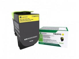 Toner Lexmark 71B20Y0, yellow ,return program ,2.3k,CX317DN/417DE, CS317DN/417DN/