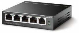 TP-LINK 5-Port Gigabit Desktop Switch with 4-Port PoE, TL-SG1005LP, 5* 10/100/1000Mbps RJ45 Ports, AUTO Negotiation/AUTO MDI/MDIX, Standard: 802.3 af/at compliant, Switching Capacity: 10Gbps, Power Supply: 40W, Fanless