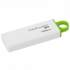 USB Flash Drive Kingston 128 GB DataTraveler DTIG4, USB 3.0, white-green