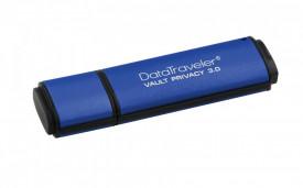 USB Flash Drive Kingston, 16GB, DTVP30, USB 3.0, 256bit AES Encrypted FIPS 197