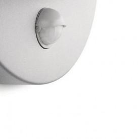 Aplica de exterior cu senzor de miscare Philips myGarden June, E27, 1x12W, bec economic inclus, 230V, 741 lumeni, IP44, clasa energetica A, culoare gri