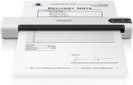 Scanner Epson DS-70 portabil, dimensiune A4, tip sheetfed, viteza scanare: 5.5 sec/pacina alb-negru si color, rezolutie optica 600x600dpi, , fiabilitate ciclu de lucru zilnic 300 pagini, formate ieÅŸire : BMP, JPEG, TIFF, multi-TIFF, PDF, searchable PDF,