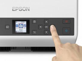 Scanner Epson DS-870, dimensiune A4, tip sheetfed, viteza scanare: 65ppm, rezolutie optica 600x600dpi, ADF 100 pagini, duplex, Fiabilitate ciclu de lucru zilnic 7.000 Pagini,Formate iesire: BMP, JPEG, TIFF, Scanare către multi TIFF, PDF, Scanare către P