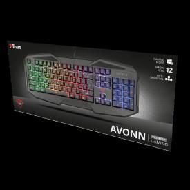 Tastatura Trust GXT 830-RW Avonn, Gaming, neagra