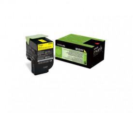 Toner Lexmark 80C2HY0, yellow, 3 k, CX410de , CX410de with 3 yearOnsite Service , CX410dte , CX410e , CX510de , CX510de Statoil ,CX510dhe , CX510dthe