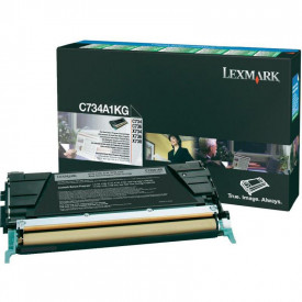 Toner Lexmark C734A1KG, black, 8 k, C734dn , C734dtn , C734dw ,C734n , C736dn , C736dtn , C736n , X734de , X736de , X738de , X738dte