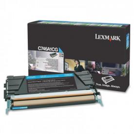 Toner Lexmark C746A1CG, cyan, 7 k, C746dn , C746dtn , C746n ,C748de , C748dte , C748e