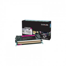 Toner Lexmark X748H3MG, magenta, 10 k, X748de , X748de Statoil ,X748de with total 5 years warranty , X748dte