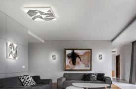 Aplica LED integrat Trio Trinity, 24W, 230V, temperatura culoare variabila 3000+4000+5500K, 2000 lumeni, durata de viata 30.000 de ore, clasa energetica A, IP20, dimensiuni: 40x7x40cm, material plastic, culoare aluminiu lucios, montare pe plafon si pe per