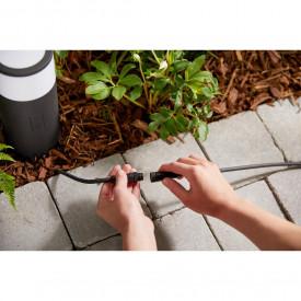 Stalp iluminat exterior LED RGBW integrat Philips Calla HUE, unitate baza, control inteligent cu Hue Bridge, 8W (49W), 220-240V, IP65, ambianta alba, culoare calda-rece 2000-6500K, 600 lumeni, durata de viata 25.000 de ore, inaltime 25.2cm, culoare crom m