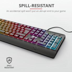 Tastatura Ziva Gaming Rainbow LED Keyboard, neagra