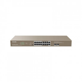 Tenda 16-Port Gigabit Switch POE TEG1118P-16-250W, IEEE802.3, IEEE802.3u, IEEE802.3ab, IEEE802.3z, IEEE802.3x, IEEE802.3af/at, 16 * 100/1000, 2* 1000 Mbps, PoE power supply Single port: AF: 15.4W, AT: 30W Whole device: 230W.