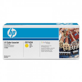 Toner HP CE742A, yellow, 7.3 k, HP Color LaserJet CP5220, Color LaserJet CP5225, Color LaserJet CP5225DN, Color LaserJet CP5225N