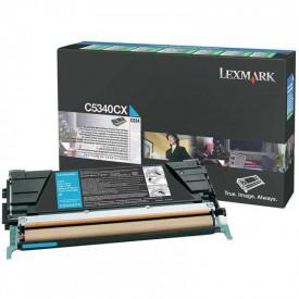 Toner Lexmark C5340CX, cyan, 7 k, C534dn , C534dtn , C534n