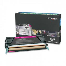 Toner Lexmark C734A1MG, magenta, 6 k, C734dn , C734dtn , C734dw ,C734n , C736dn , C736dtn , C736n , X734de , X736de , X738de , X738dte