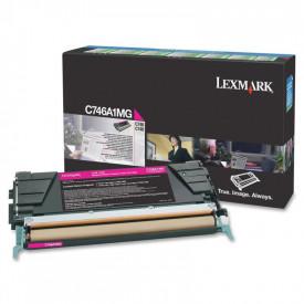Toner Lexmark C746A1MG, magenta, 7 k, C746dn , C746dtn , C746n ,C748de , C748dte , C748e