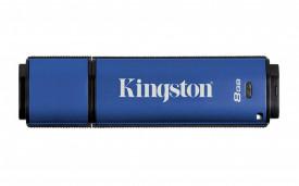USB Flash Drive Kingston, 8GB, DTVP30, USB 3.0, 256bit AES Encrypted FIPS 197
