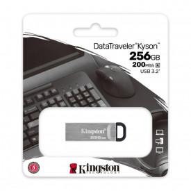 USB Flash Drive Kingston, DataTraveler Kyson, 256GB, USB 3.2, metalic