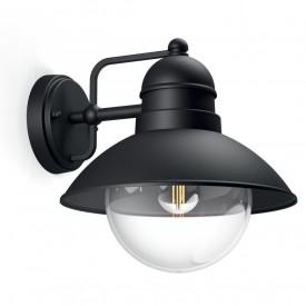 Aplica de exterior Philips myGarden Hoverfly, E27, 60W, 230V, clasa energetica A++, IP44, material aluminiu, culoare negru