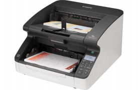 Scanner Canon DR-G2110, dimensiune A3, tip sheetfed, viteza scanare: 110ppm alb-negru si color, duplex, omitere pagini goale, rezolutie optica 600dpi, rezolutie hardware 600x600dpi, ADF 500 coli, senzor CIS, software: Driver ISIS, driver TWAIN (32/64 de b