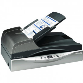 Scanner Xerox DocuMate 3640, Flatbed color, A4, 40ppm/80ipm, 600 dpi, 24 biti color, 8 biti alb-negru, Visioneer One Touch scanning, Twain & ISIS driver,Kofax VRS, USB, Duplex, ADF 80 coli, volum maxim 5000 pagini/zi