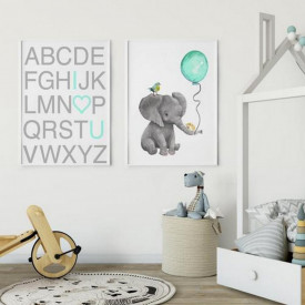 Set 2 tablouri decorative Elefant