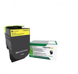 Toner Lexmark 71B2HY0, yellow ,return program ,3.5k,CX417DE, CX517DE, CS417DN, CS517DE