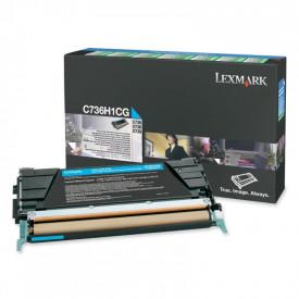 Toner Lexmark C736H1CG, cyan, 10 k, C736dn , C736dtn , C736n ,X736de , X738de , X738dte
